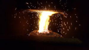 ekogroszek ogień